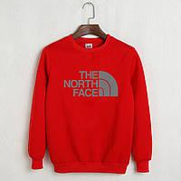 Свитшот молодежный с принтом The North Face Кофта красная
