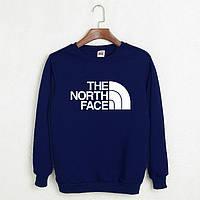Свитшот молодежный с принтом The North Face Кофта темно-синяя
