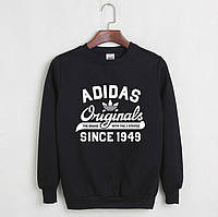 Свитшот мужской с принтом Adidas Originals 1949 Адидас Кофта черная