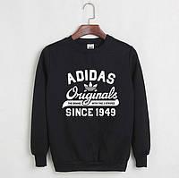 Свитшот мужской с принтом Adidas Originals 1949 Адидас Кофта черная (РЕПЛИКА)