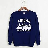 Свитшот мужской с принтом Adidas Originals 1949 Адидас Кофта темно-синяя