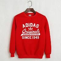 Свитшот мужской с принтом Adidas Originals 1949 Адидас Кофта красная