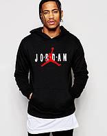 Худи Jordan Джордан для парня черная с принтом толстовка (РЕПЛИКА)