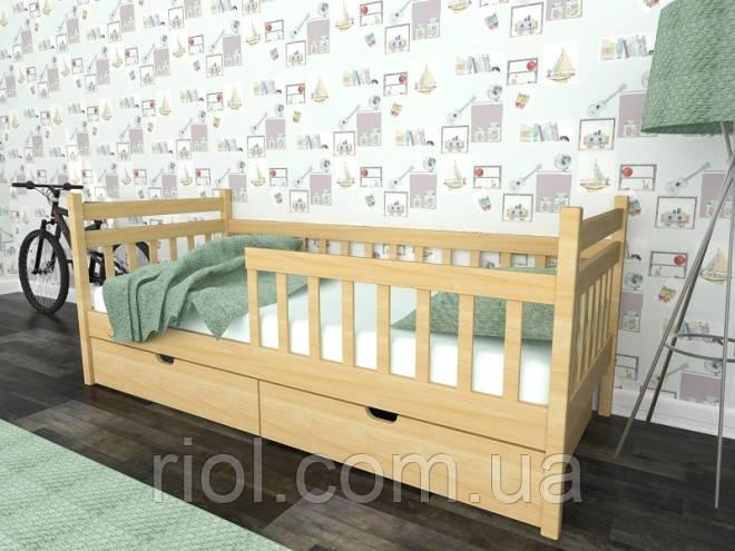 Ліжко односпальне Моллі з масиву бука