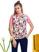 Женская комбинированная футболка с рисунком Ellips (разные цвета)