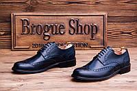 Мужские туфли броги Scarpe Italiana, 29 см, 44 размер. Код: 418.