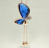 1091 - Бижутерия длинное ожерелье Бабочка