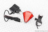 Велогабарит, задняя фара , мигалка с лазерной подсветкой 8диодов JY-3L