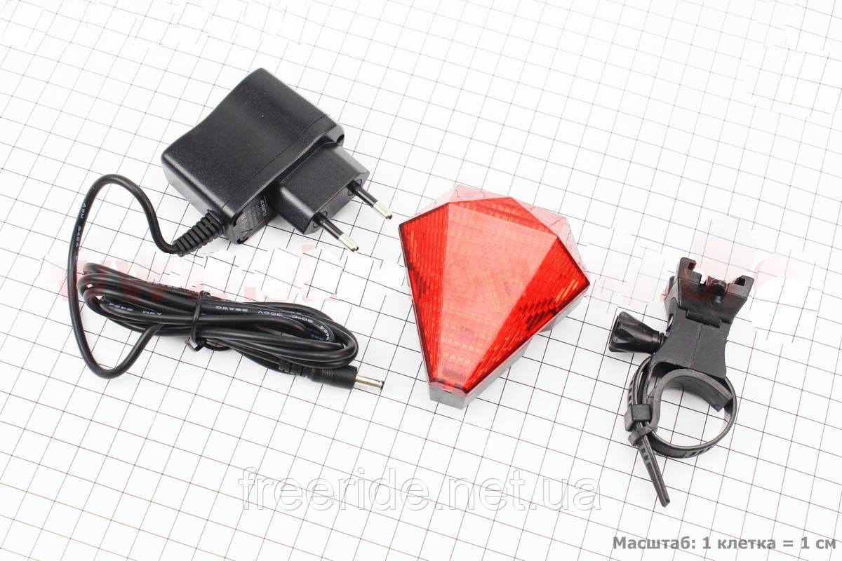 Задняя фара , мигалка с лазерной подсветкой 8диодов JY-3L