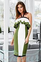 Эксклюзивное трехцветное платье.