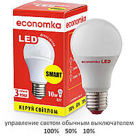 Умная светодиодная лампа Economka LED 10W SMART Е27-4200K, фото 1