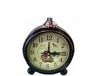 Часы будильник под бронзу в стиле Прованс