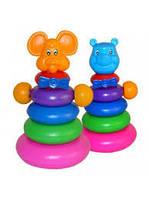 Детская пирамидка Медведь 130445 M-Toys