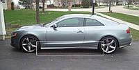 Накладки на пороги тюнинг обвес Audi A5 Coupe стиль Votex