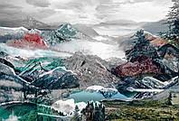 Флизелиновые фотообои 368x248 см. Волшебные горы. Komar XXL4-053