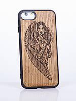 """Чехол iPhone 7 с накладкой из дерева """"ANGEL"""""""