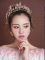 Диадема свадебная тиара для волос Элли корона украшения для волос