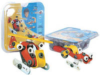 Детский конструктор пластиковый (2 модели вертолета + машины) в блистере, 2555-13Е