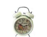 Часы будильник с колокольчиками Розы в стиле Прованс