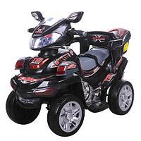 Детский электрический квадроцикл M 0633 EBR-2 черный, мягкие колеса с пультом