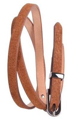 Женский узкий ремень 49176 коричневый