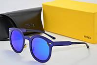 Солнцезащитные очки круглые Fendi фиолетовые