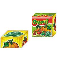Кубики пластастиковые 4 шт. Овощи Технок 1349