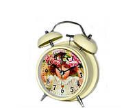 """Красивые часы будильник """"Девочка"""" в стиле Прованс"""