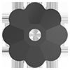 Пришивные цветочки Preciosa (Чехия) Jet 6 мм
