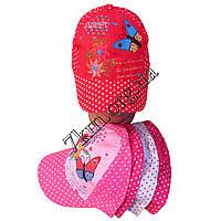 """Кепка детская для девочек """"Sweet butterfly"""" горох 52 р. (хлопок) Вьетнам Оптом"""