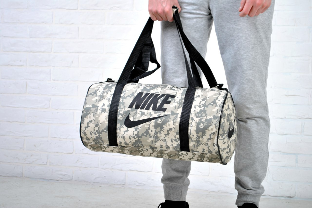 e1c10011 Круглая спортивная сумка найк (Nike), комуфляж реплика, цена 240 грн ...