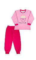 Велюровая пижама с овечкой для девочки