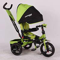 Трехколесный велосипед с поворотным сиденьем Azimut Crosser T-400 зеленый (пенорезина)