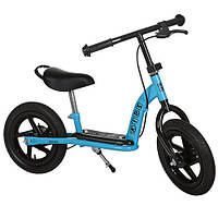"""Беговел PROFI KIDS детский 12"""", резиновые колеса, высота до сидения 41см, голубой, M3438AB-2"""