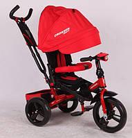 Трехколесный велосипед с поворотным сиденьем Azimut Crosser T-400 красный (пенорезина)