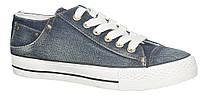"""Подростковые кеды 462/17""""American Club""""(синий джинс) размеры 36-41"""