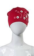 Детская шапка для девочки красная