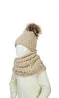 Шапка и шарф-хомут для девочки