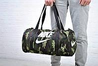 Спортивная дорожная сумка найк (Nike), комуфляж, милитари