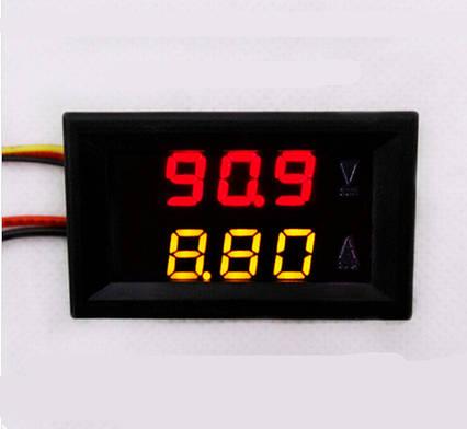 Цифровой вольтметр амперметр DC 0-100в 10a , фото 2
