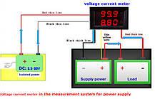 Цифровой вольтметр амперметр DC 0-100в 10a , фото 3