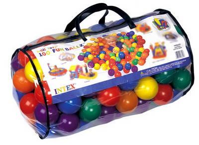 Шарики для сухого бассейна 60мм, 100шт в сумке, фото 2