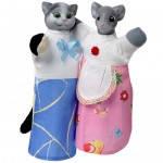 Набор кукол-рукавиц КОТ И МЫШКА (2 персонажа), B081/082