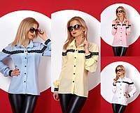 Классическая женская рубашка №381 (р.42-50)