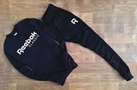 Мужской Спортивный костюм Reebok Рибок Classic черный (большой принт) (РЕПЛИКА)