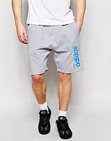 Шорты мужские Adidas Адидас серые (большой принт)