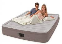 Надувная велюр-кровать Intex 67770 со встроенным электронасосом 203х152х33см, фото 1