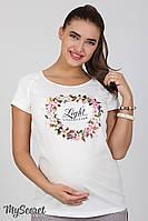 Блузка для беременных Lira flower, молочная., фото 1