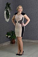 Молодежное платье с нашивкой из гипюра