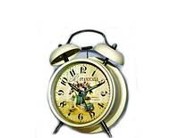 """Часы будильник классические """"Цветы"""" в стиле Прованс"""
